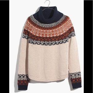 Madewell Brookdale FairIsle Turtleneck Sweater NWT